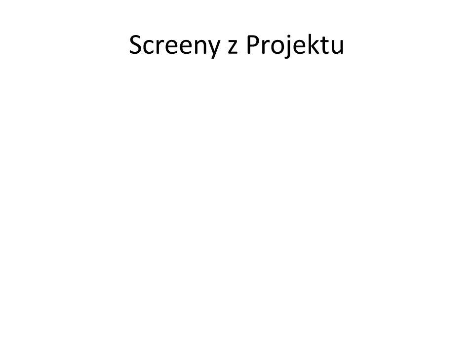 Screeny z Projektu