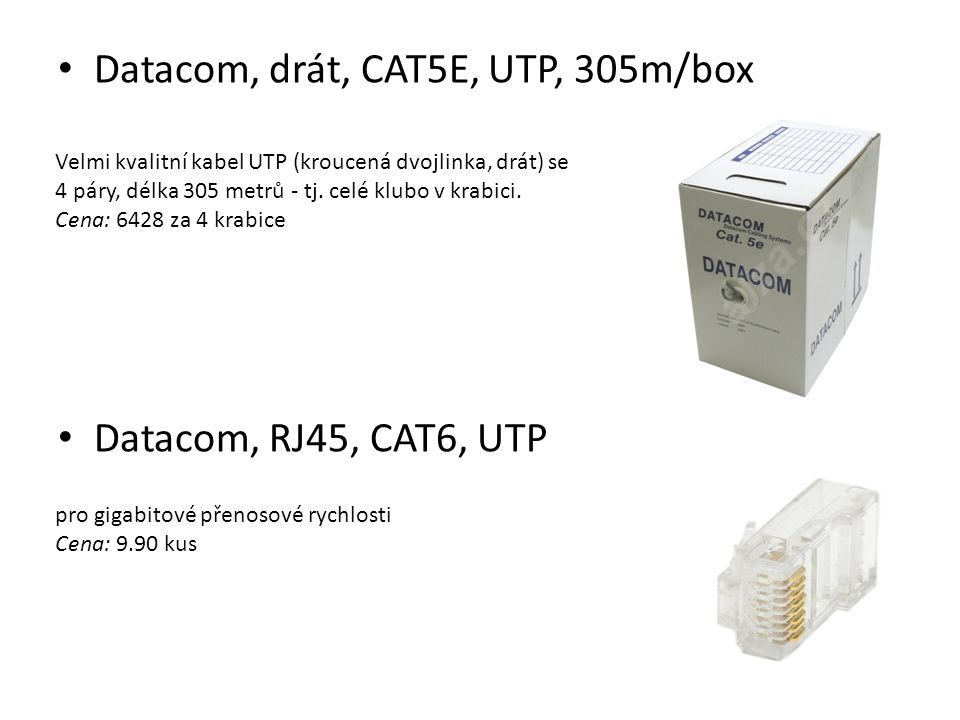 Datacom, drát, CAT5E, UTP, 305m/box