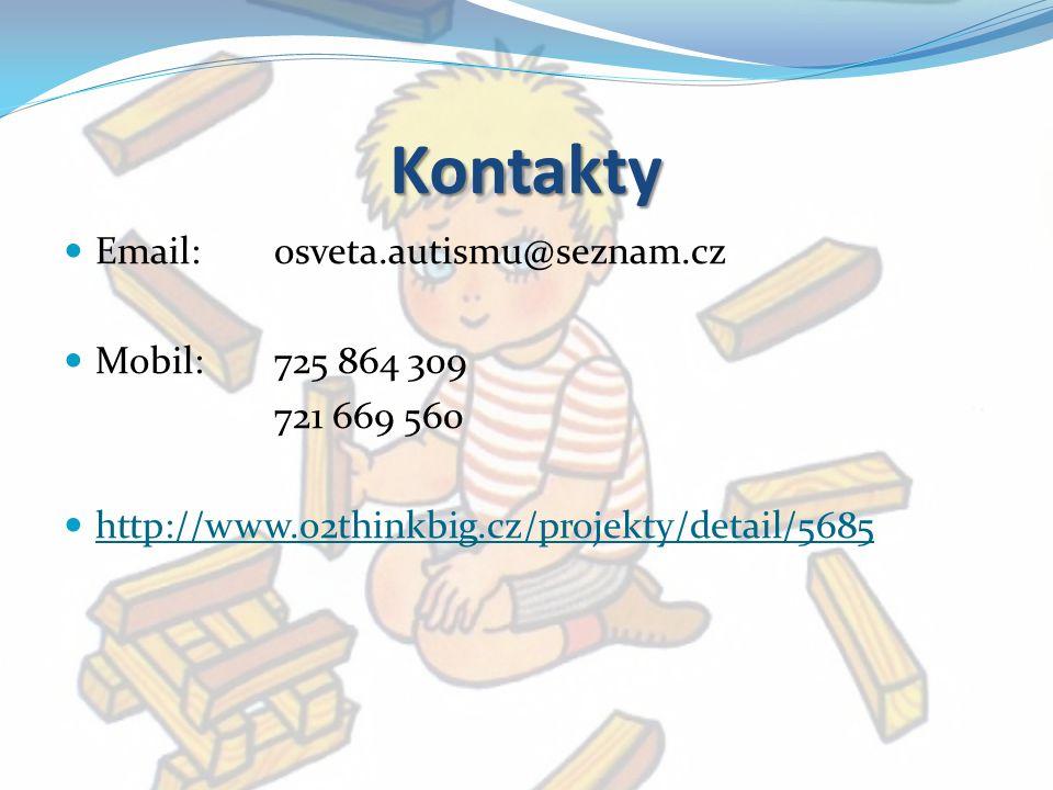 Kontakty Email: osveta.autismu@seznam.cz Mobil: 725 864 309