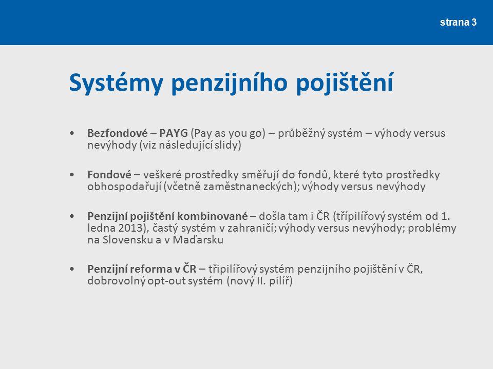 Systémy penzijního pojištění