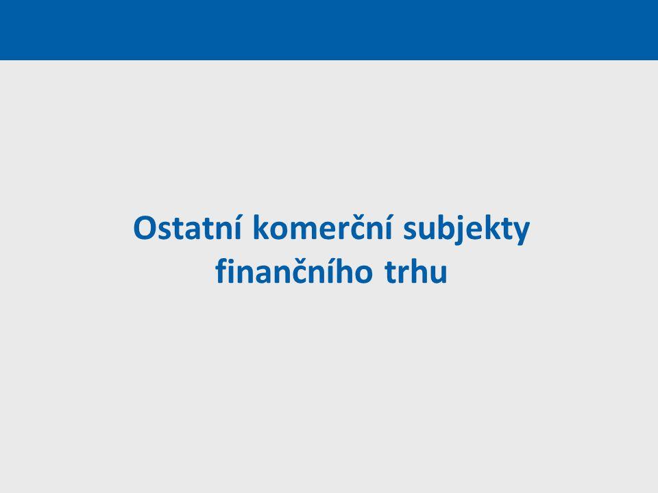 Ostatní komerční subjekty finančního trhu