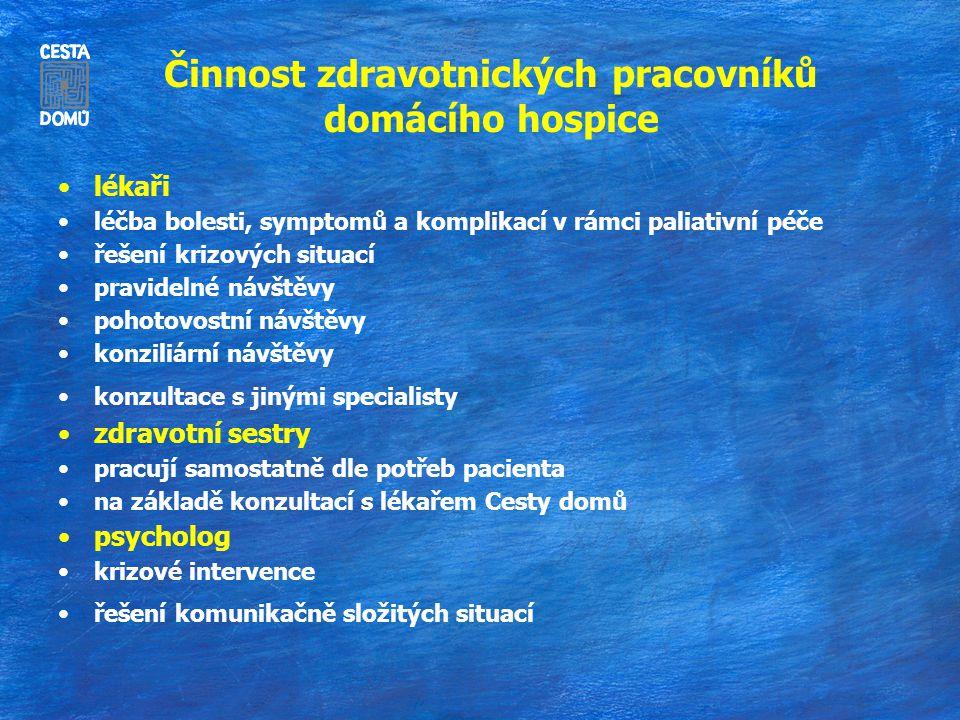 Činnost zdravotnických pracovníků domácího hospice