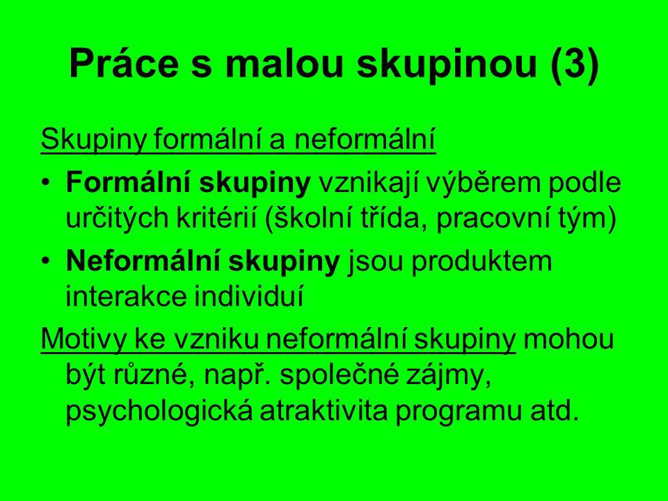 Práce s malou skupinou (3)