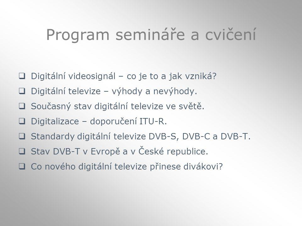 Program semináře a cvičení