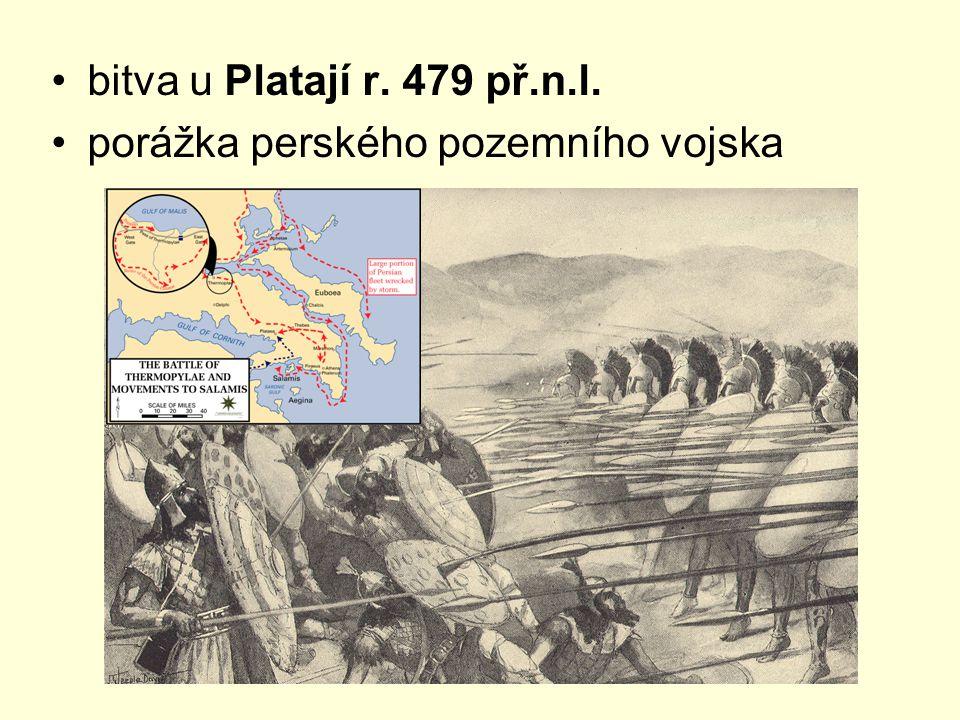 bitva u Platají r. 479 př.n.l. porážka perského pozemního vojska