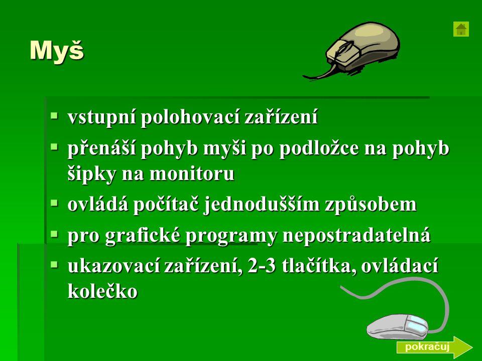Myš vstupní polohovací zařízení
