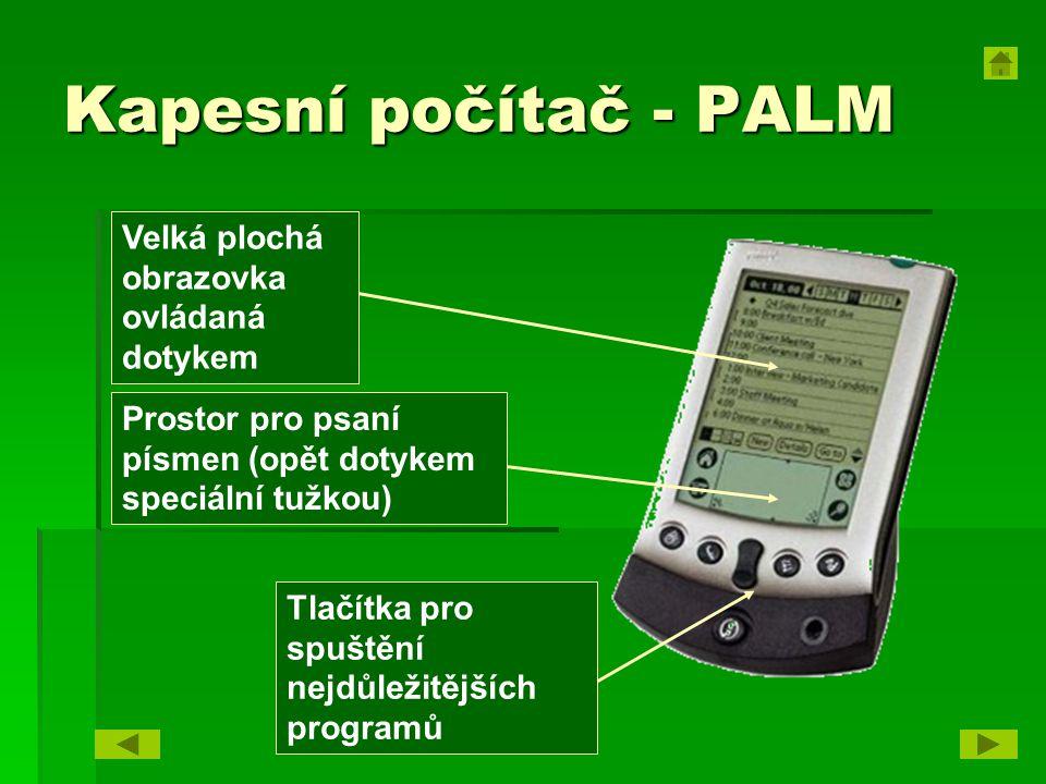 Kapesní počítač - PALM Velká plochá obrazovka ovládaná dotykem