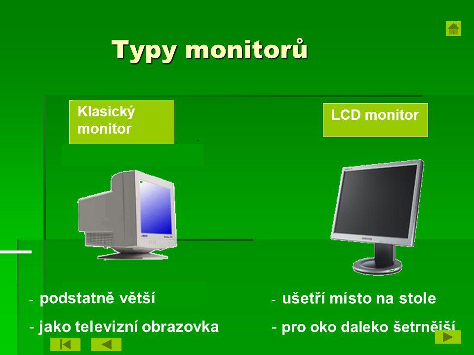 Typy monitorů jako televizní obrazovka pro oko daleko šetrnější