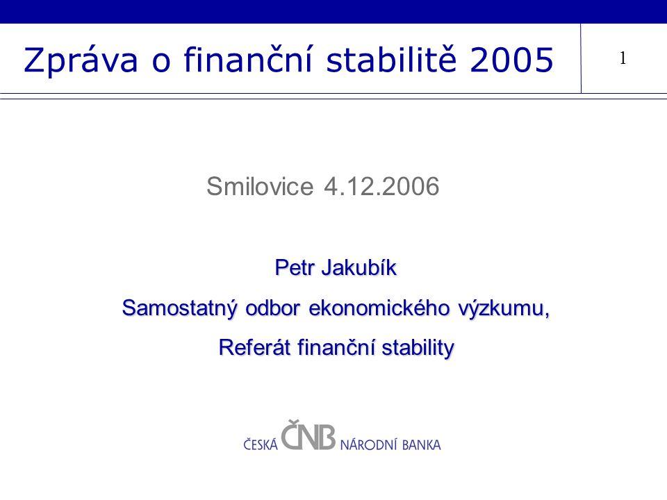 Zpráva o finanční stabilitě 2005