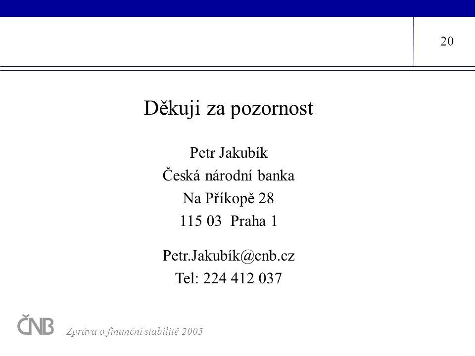 Děkuji za pozornost Petr Jakubík Česká národní banka Na Příkopě 28