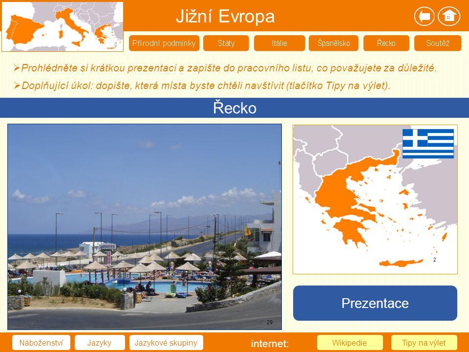 Jižní Evropa Řecko Prezentace