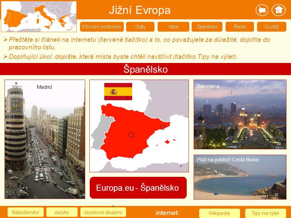 Jižní Evropa Španělsko Europa.eu - Španělsko