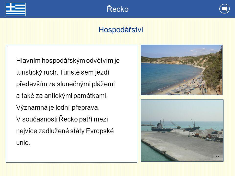 Řecko Hospodářství.