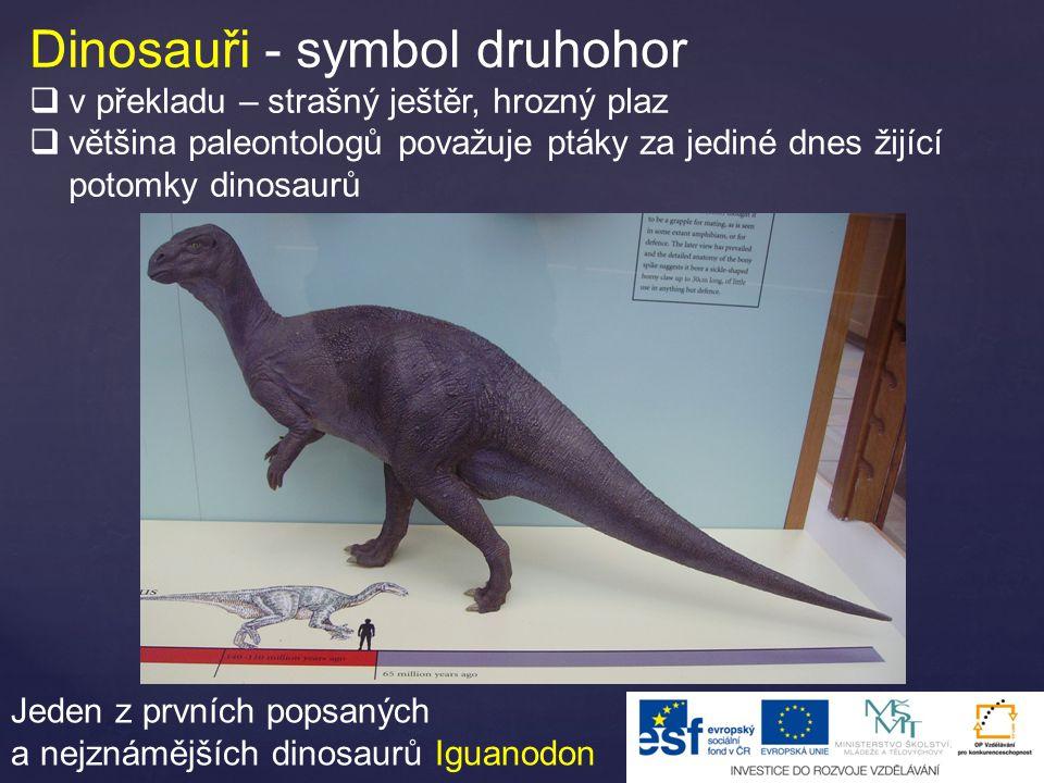 Dinosauři - symbol druhohor