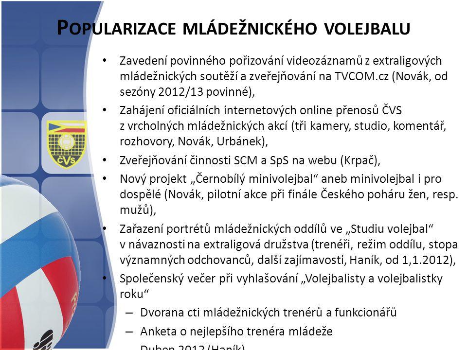 Popularizace mládežnického volejbalu