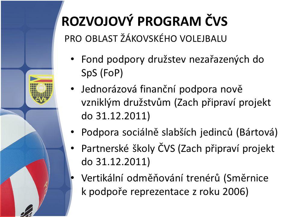 ROZVOJOVÝ PROGRAM ČVS pro oblast žákovského volejbalu