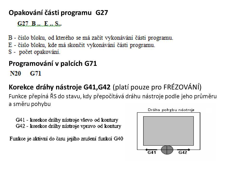 Opakování části programu G27