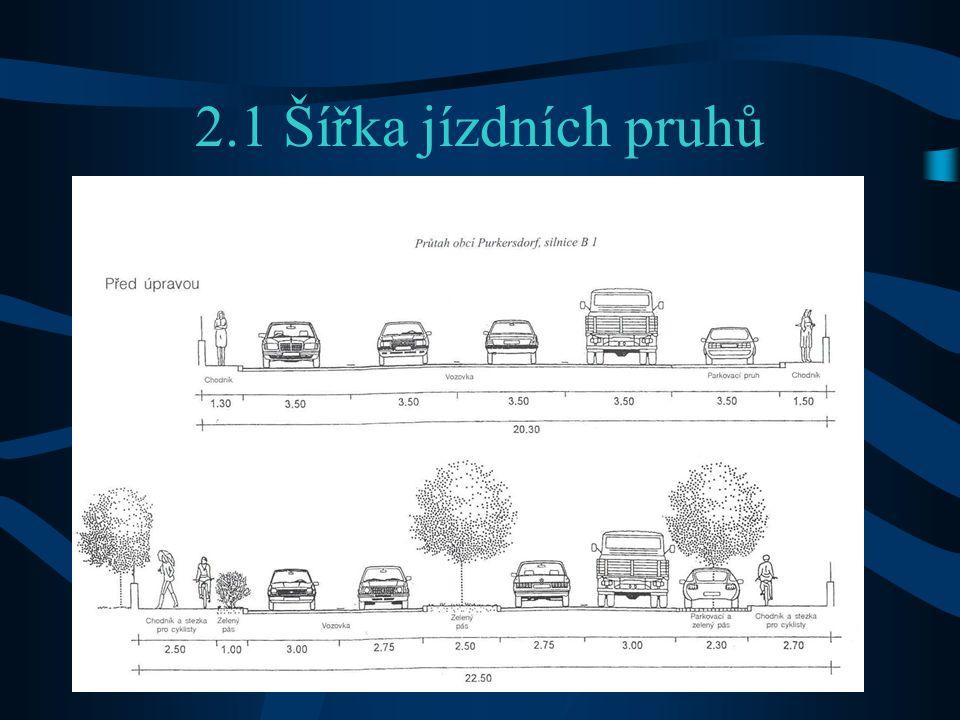 2.1 Šířka jízdních pruhů