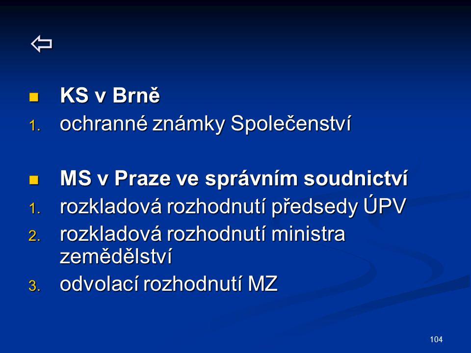  KS v Brně ochranné známky Společenství