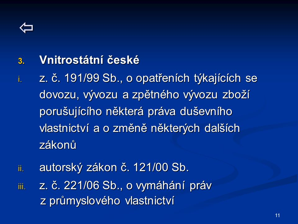  Vnitrostátní české.
