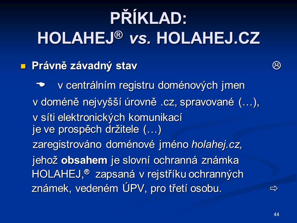 PŘÍKLAD: HOLAHEJ® vs. HOLAHEJ.CZ