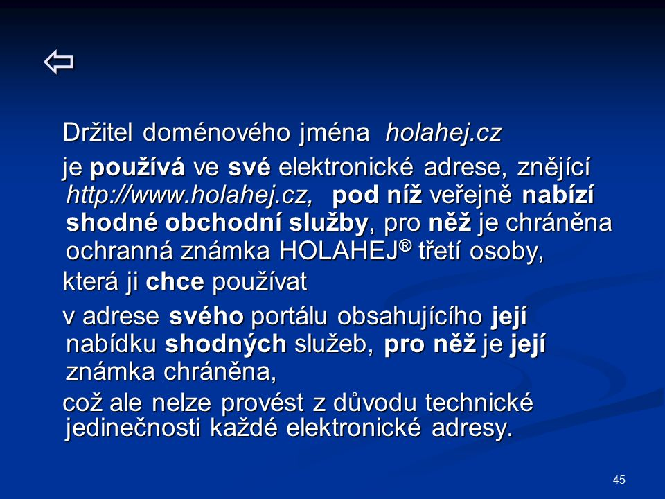  Držitel doménového jména holahej.cz