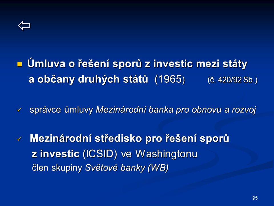  Úmluva o řešení sporů z investic mezi státy
