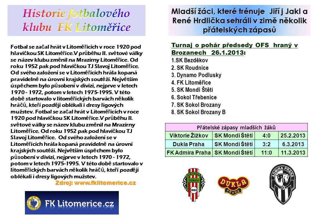 Historie fotbalového klubu FK Litoměřice