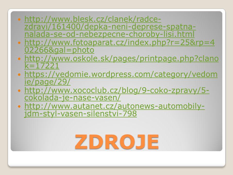 http://www.blesk.cz/clanek/radce- zdravi/161400/depka-neni-deprese-spatna- nalada-se-od-nebezpecne-choroby-lisi.html