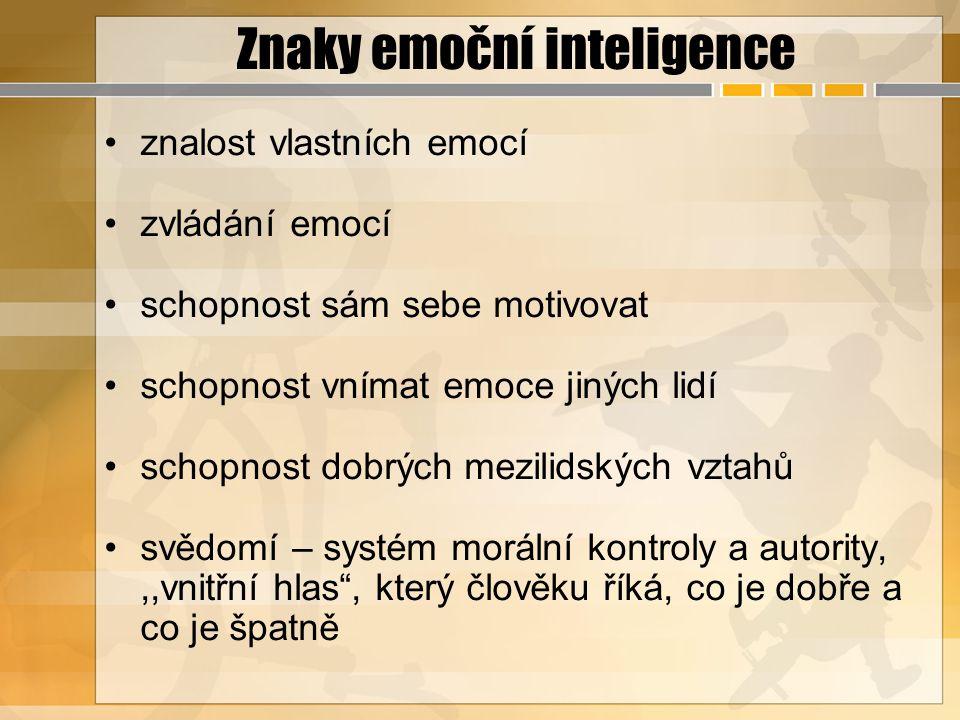 Znaky emoční inteligence