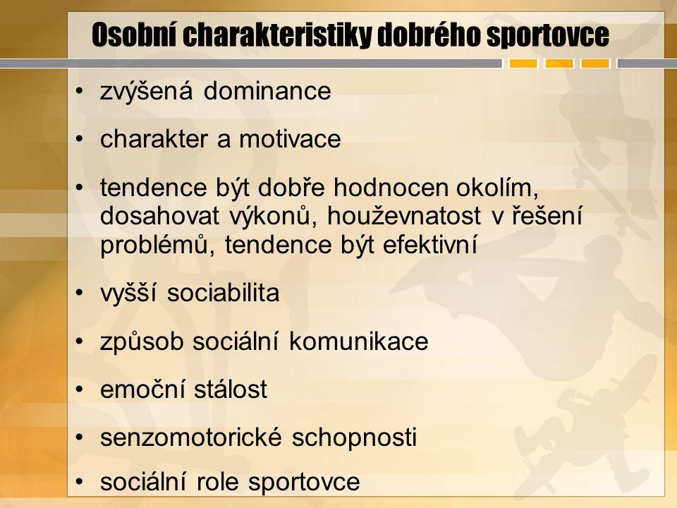 Osobní charakteristiky dobrého sportovce