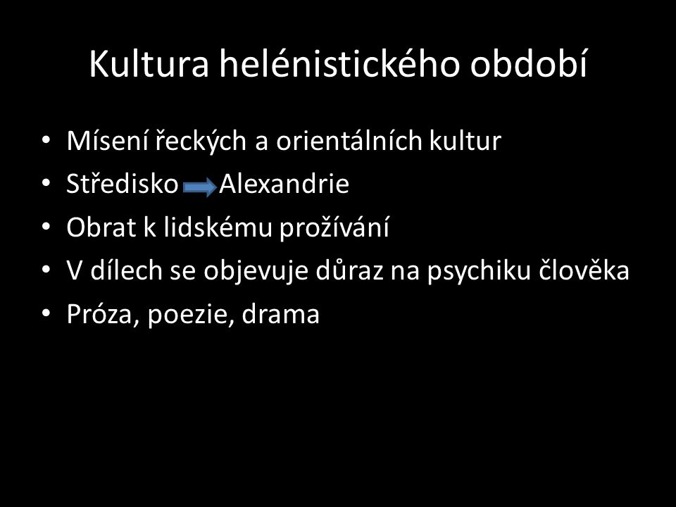 Kultura helénistického období