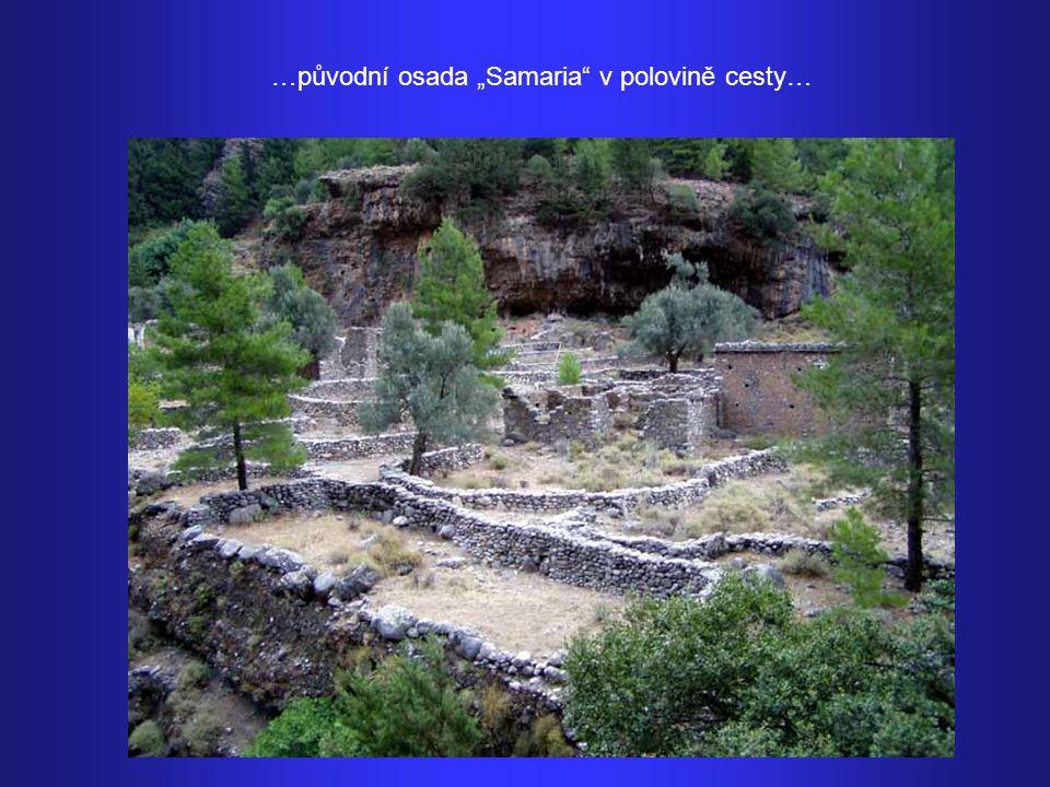 """…původní osada """"Samaria v polovině cesty…"""