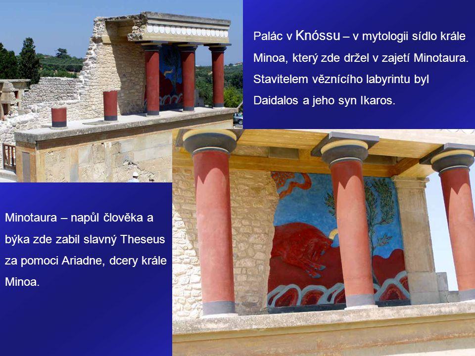 Palác v Knóssu – v mytologii sídlo krále