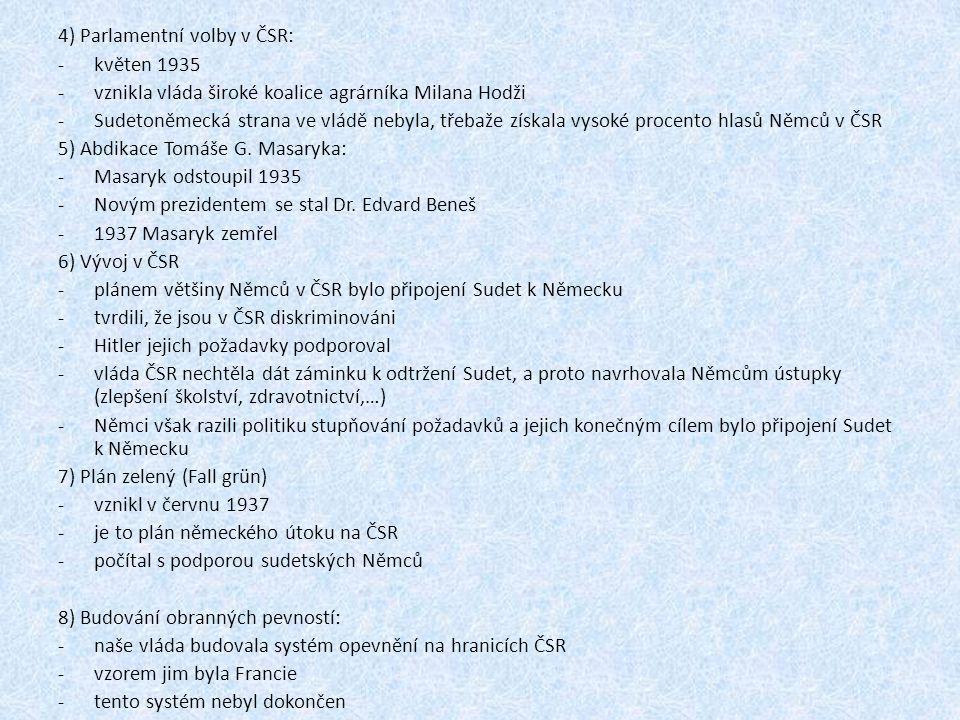4) Parlamentní volby v ČSR: