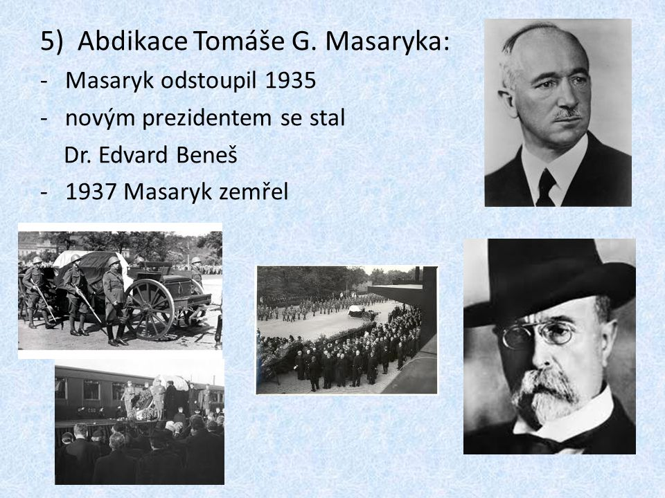 Abdikace Tomáše G. Masaryka: