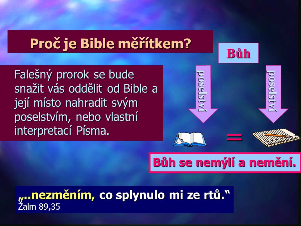 = Proč je Bible měřítkem Bůh