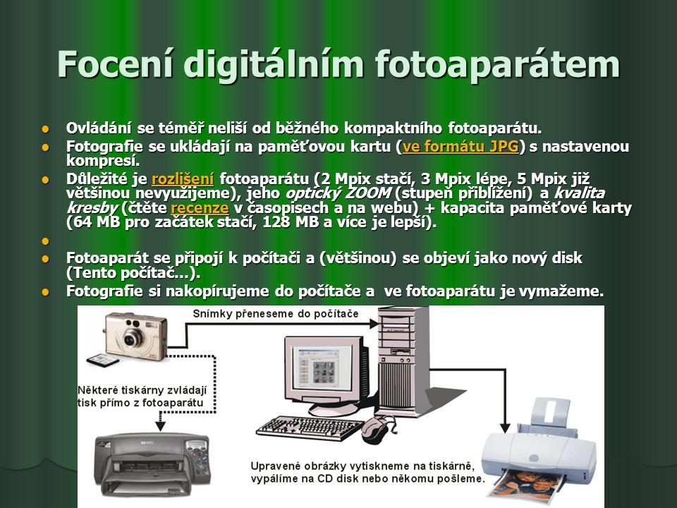 Focení digitálním fotoaparátem