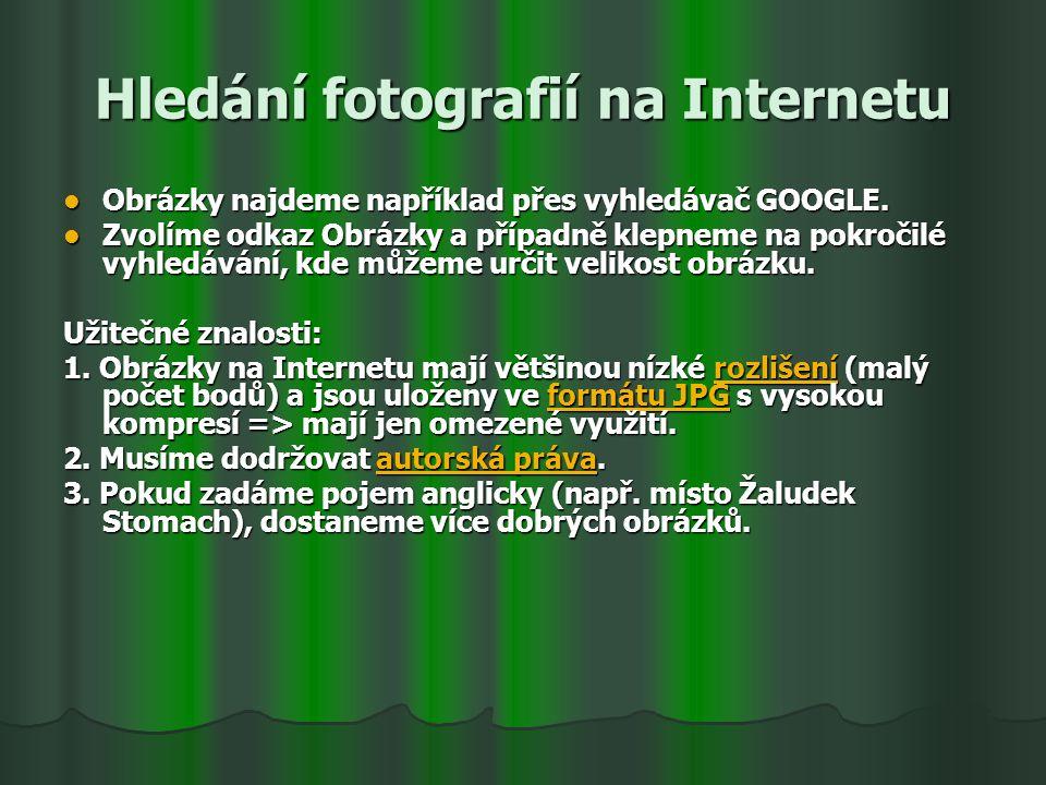 Hledání fotografií na Internetu
