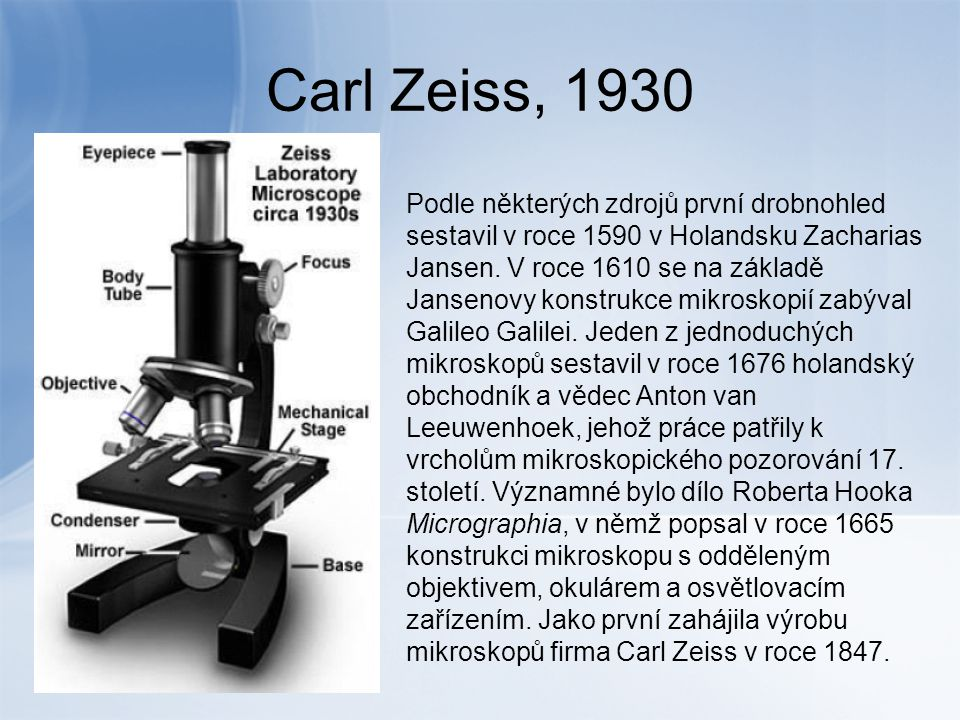 Carl Zeiss, 1930