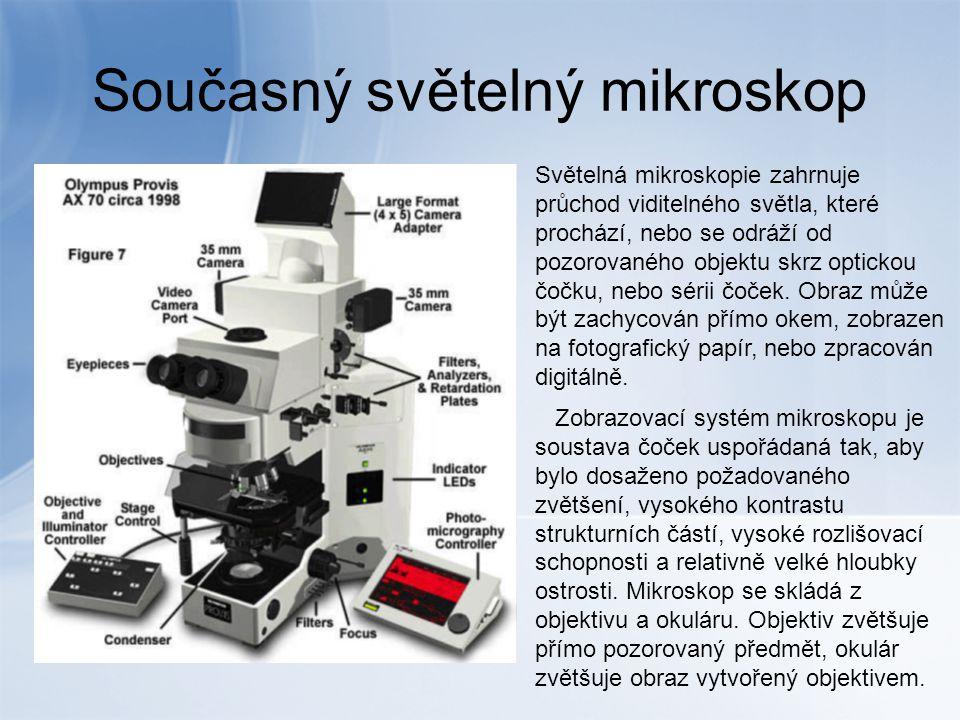 Současný světelný mikroskop