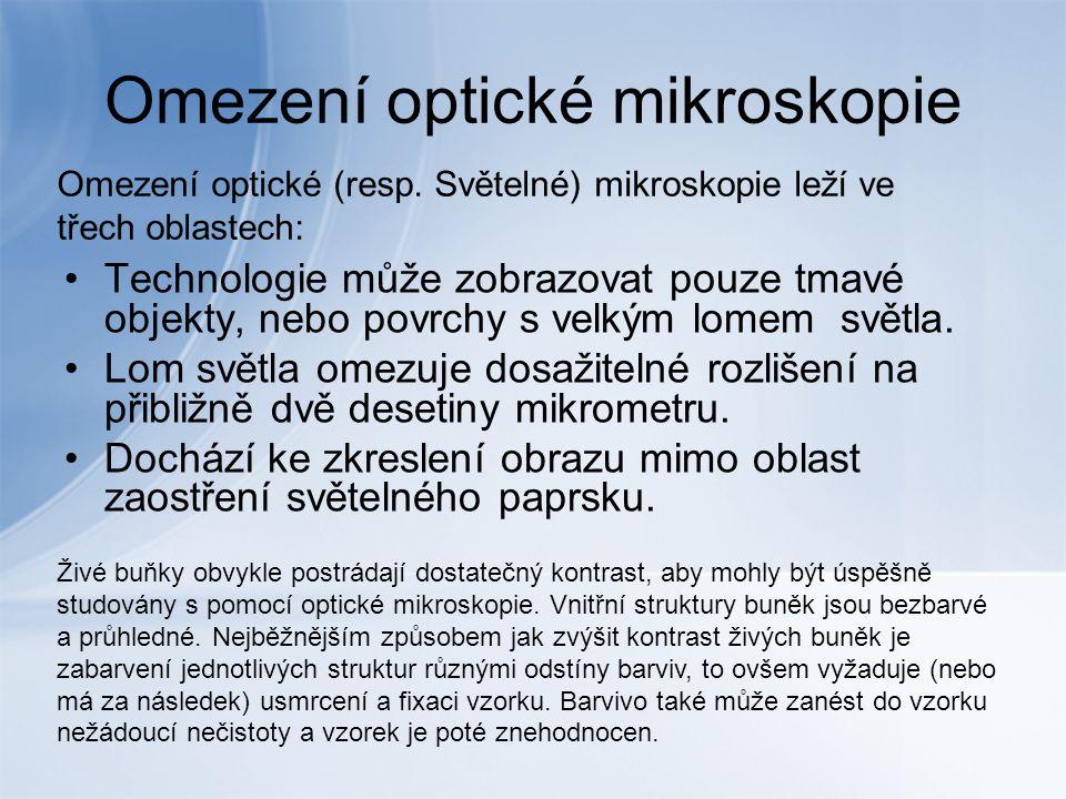 Omezení optické mikroskopie