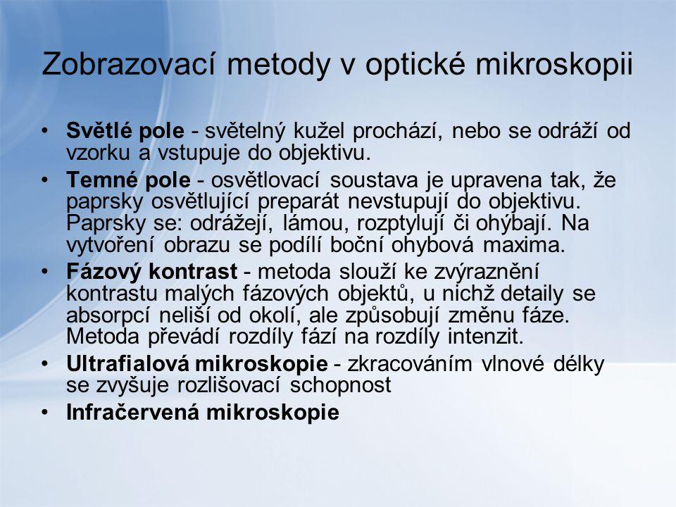 Zobrazovací metody v optické mikroskopii