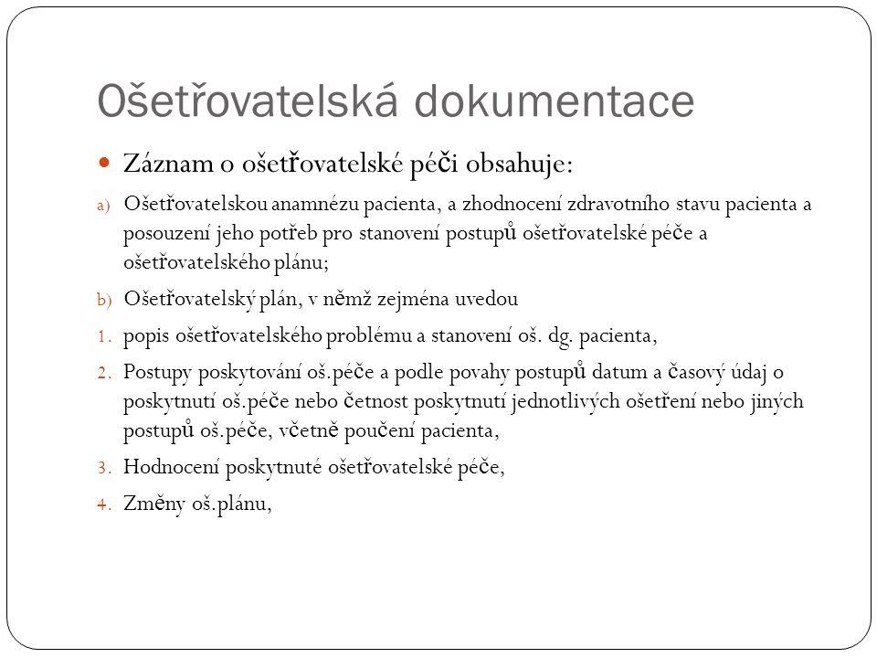 Ošetřovatelská dokumentace