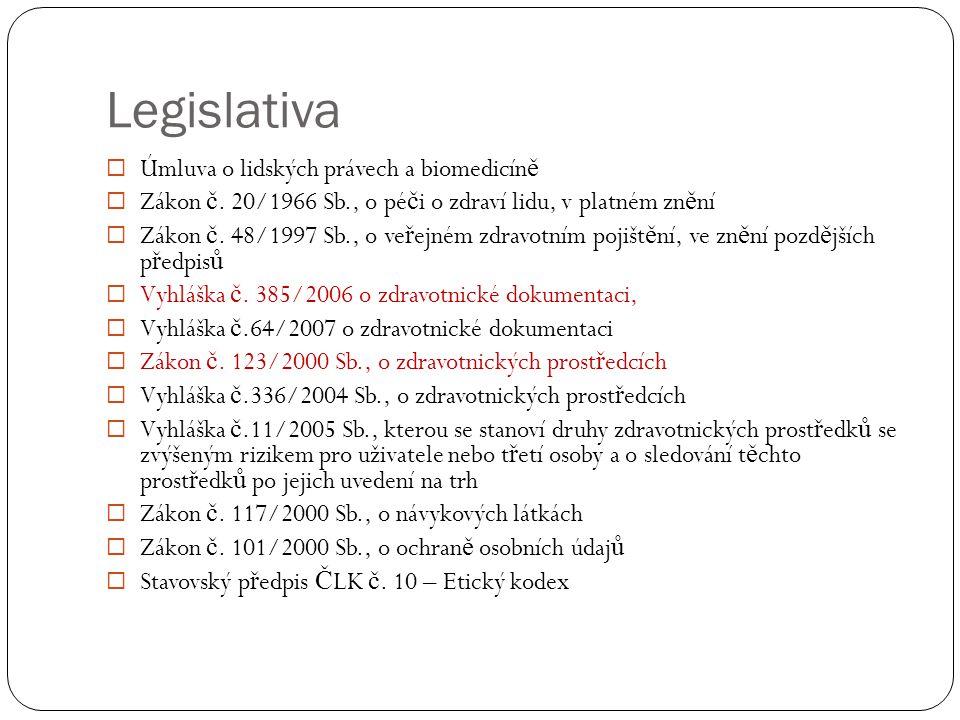 Legislativa Úmluva o lidských právech a biomedicíně