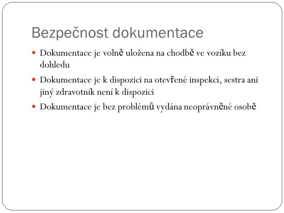 Bezpečnost dokumentace