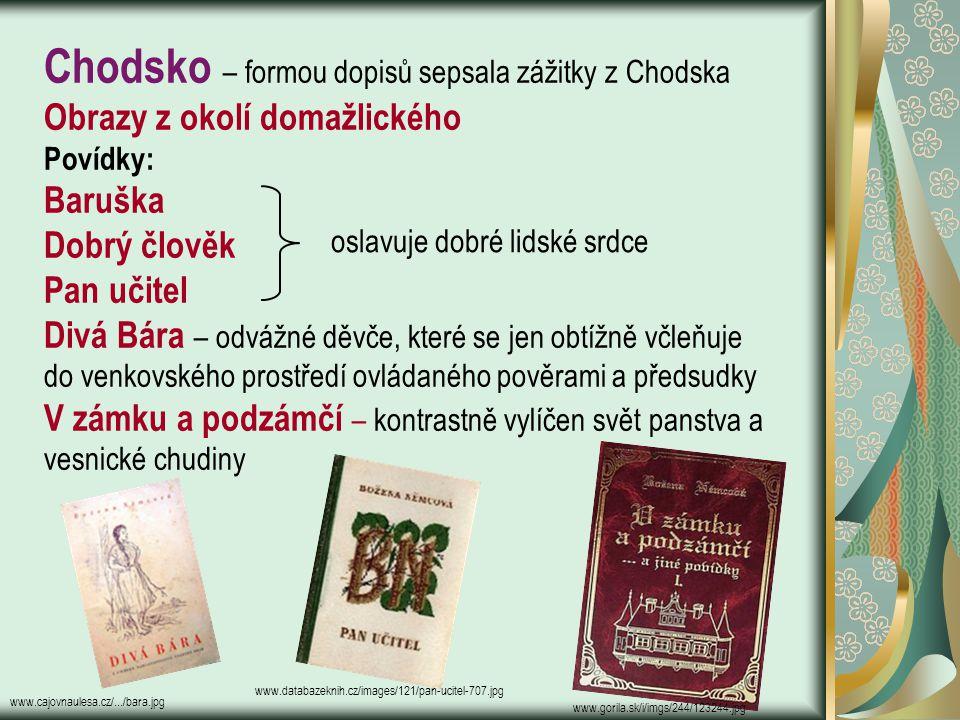 Chodsko – formou dopisů sepsala zážitky z Chodska