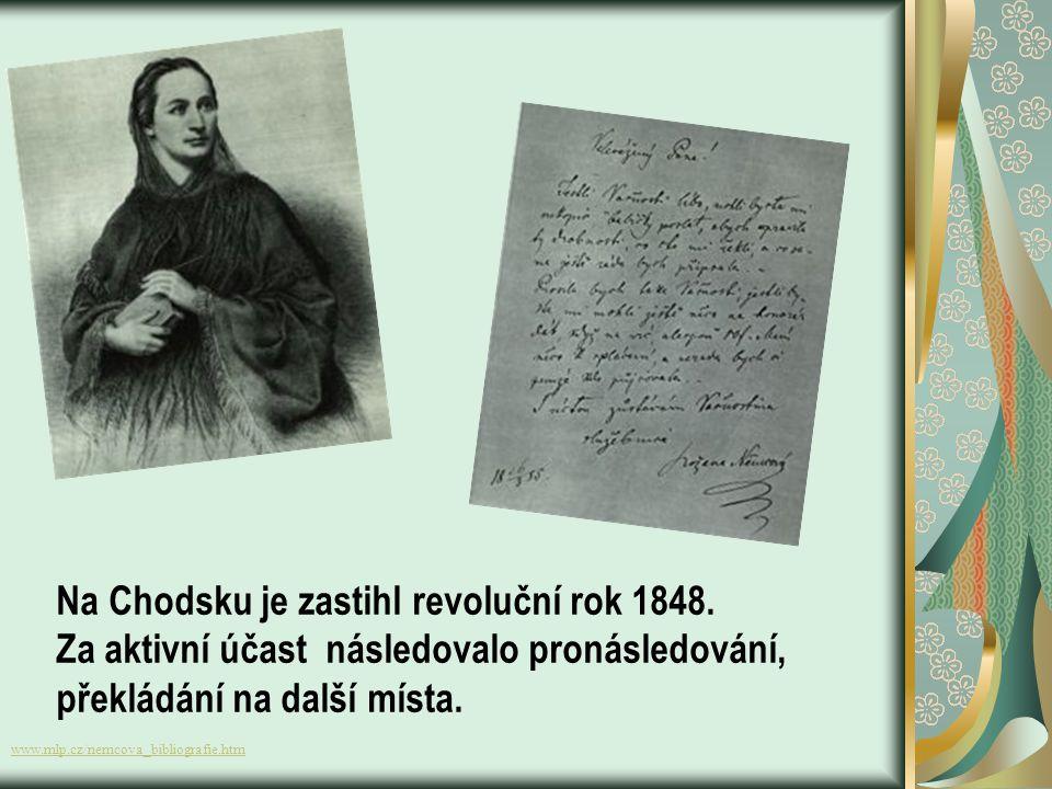 Na Chodsku je zastihl revoluční rok 1848.