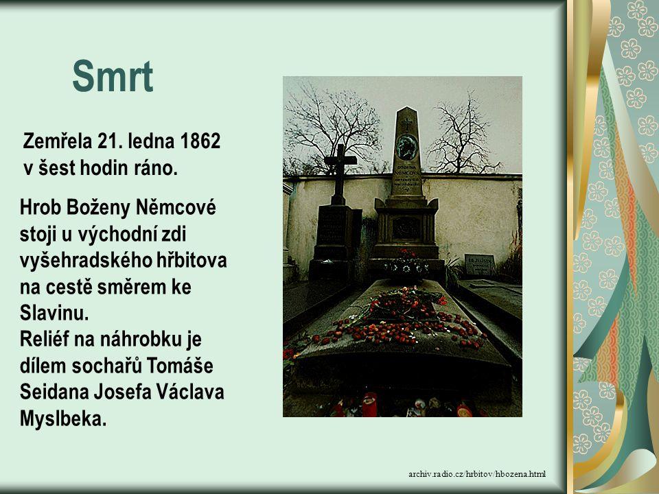 Smrt Zemřela 21. ledna 1862 v šest hodin ráno.