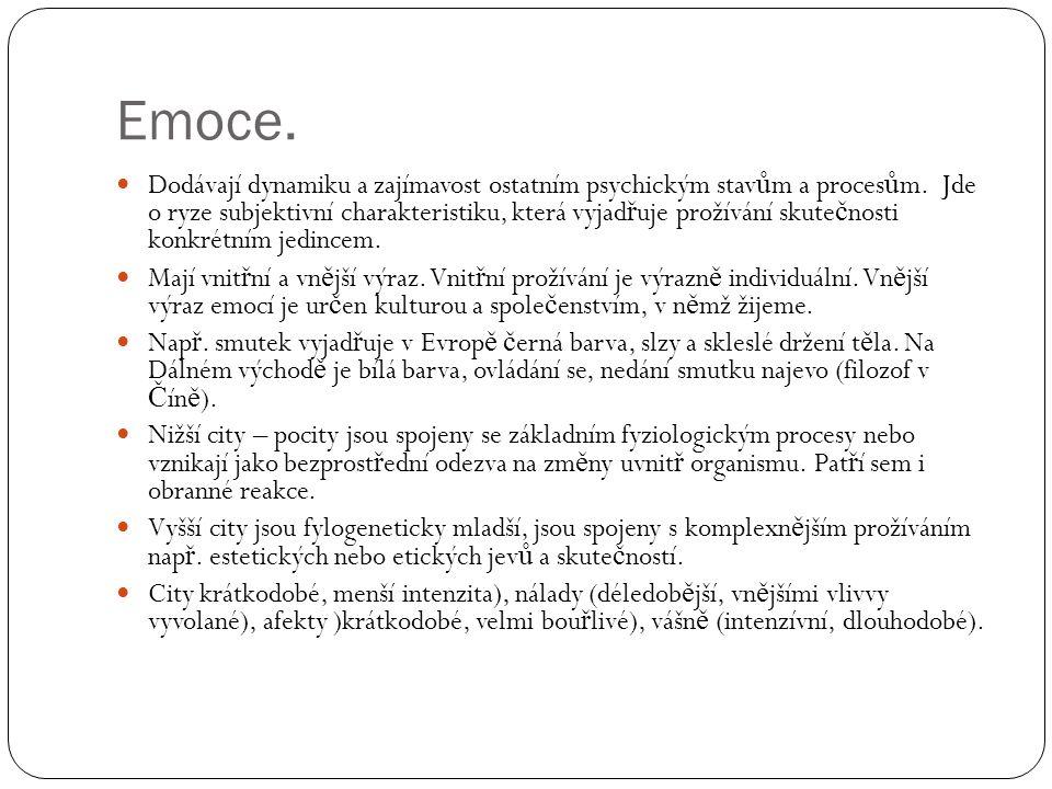 Emoce.